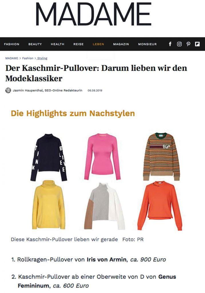 Der Kaschmir-Pullover: Darum lieben wir den Modeklassiker